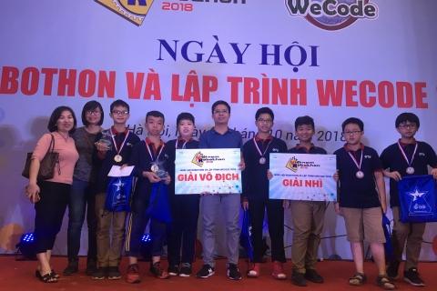 Tuyển Robotics THCS Đoàn Thị Điểm Vô địch Robothon quốc gia 2018
