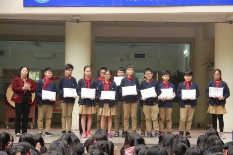 Chúc mừng các bạn đạt giải Học sinh giỏi cấp trường năm học 2018-2019