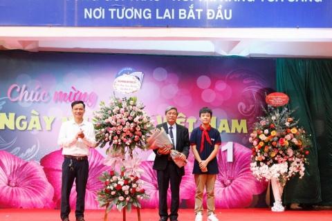 Thầy trò Đoàn Thị Điểm hân hoan chào mừng ngày Nhà giáo Việt Nam 20.11