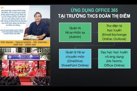 Giáo viên THCS Đoàn Thị Điểm đạt giải cao tại Ngày hội CNTT ngành giáo dục TP Hà Nội 2021.