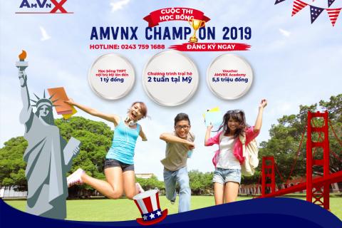 Cuộc thi học bổng Mỹ AMVNX 2019 chính thức khởi động