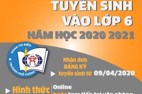 Thông báo tuyển sinh vào lớp 6 năm học 2020-2021