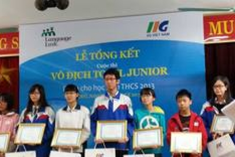 Chúc mừng các bạn HS Đoàn Thị Điểm đạt giải tại Vòng chung khảo TOEFL Junior Challenge 2013