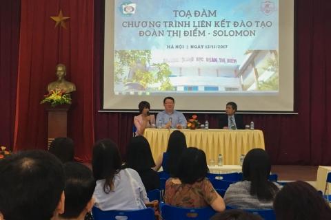 Tọa đàm về chương trình Liên kết đào tạo Đoàn Thị Điểm - Solomon
