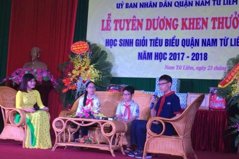 Lễ Tuyên dương khen thưởng Học sinh giỏi tiêu biểu quận Nam Từ Liêm năm học 2017 - 2018